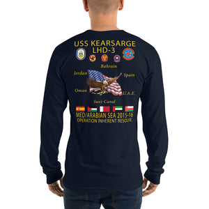 USS Kearsarge (LHD-3) 2015-16 Long Sleeve Cruise Shirt