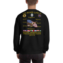 Load image into Gallery viewer, USS Boxer (LHD-4) 2013-14 Cruise Sweatshirt