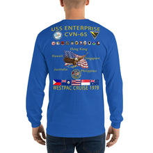 Load image into Gallery viewer, USS Enterprise (CVN-65) 1978 Long Sleeve Cruise Shirt