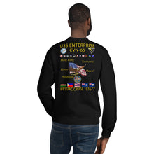 Load image into Gallery viewer, USS Enterprise (CVN-65) 1976-77 Cruise Sweatshirt