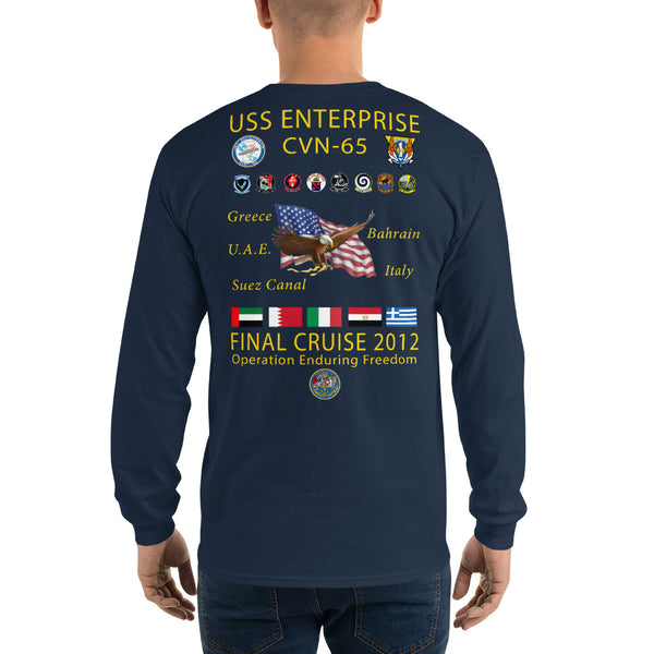 USS Enterprise (CVN-65) 2012 Long Sleeve Cruise Shirt