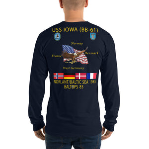 USS Iowa (BB-61) 1985 Long Sleeve Cruise Shirt