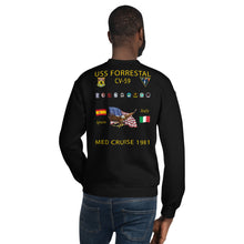 Load image into Gallery viewer, USS Forrestal (CV-59) 1981 Cruise Sweatshirt