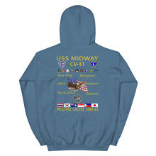 Load image into Gallery viewer, USS Midway (CV-41) 1984-85 Cruise Hoodie