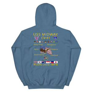 USS Midway (CV-41) 1984-85 Cruise Hoodie