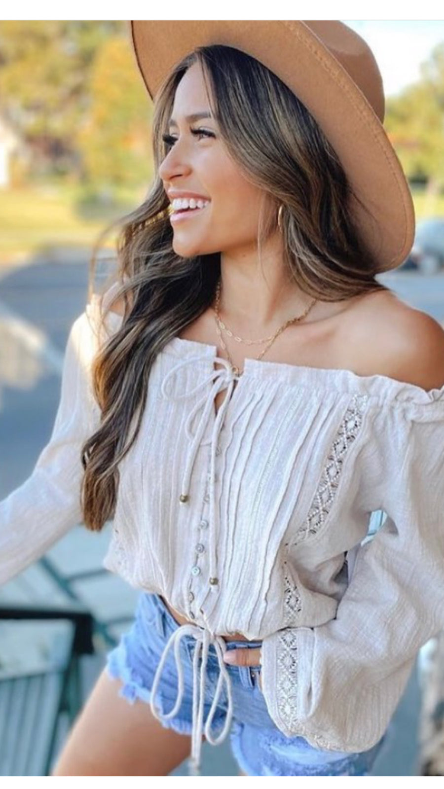 LIBERTY OFF SHOULDER PEASANT BLOUSE