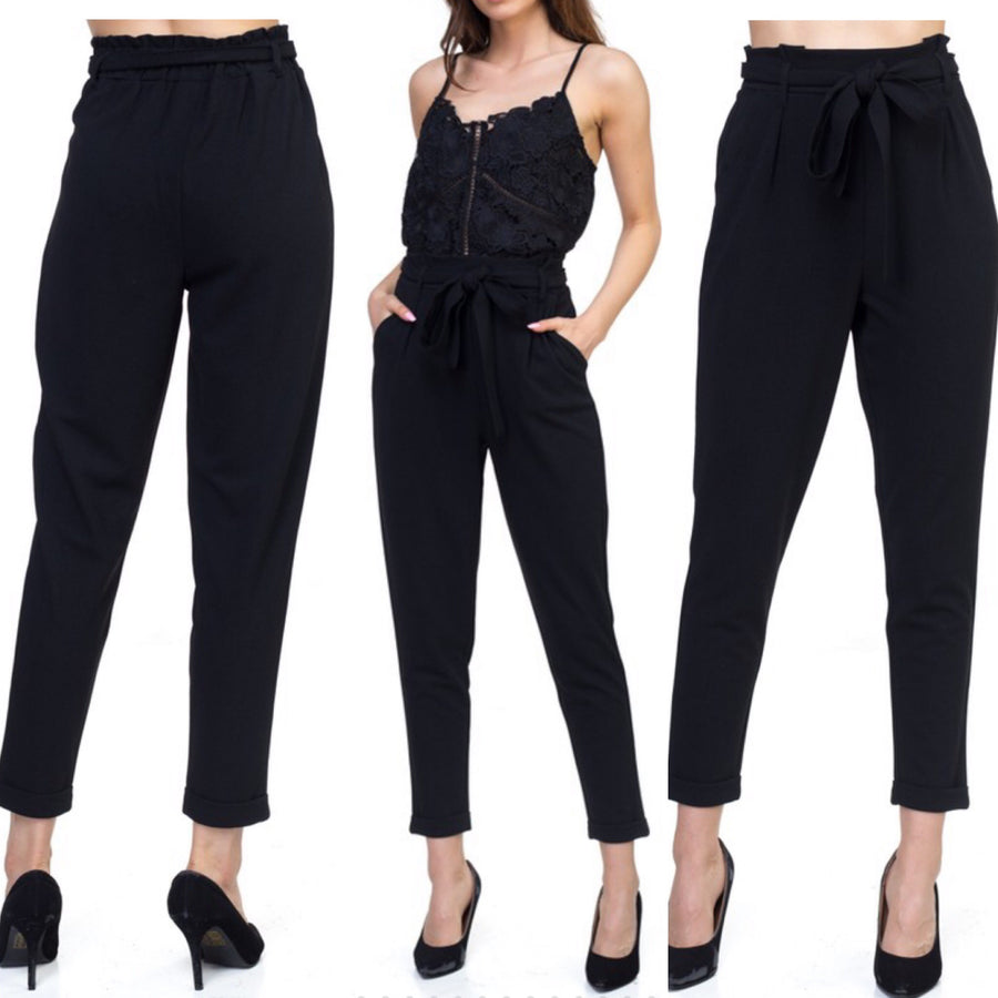 DARCY HIGH WAISTED BELTED TROUSER