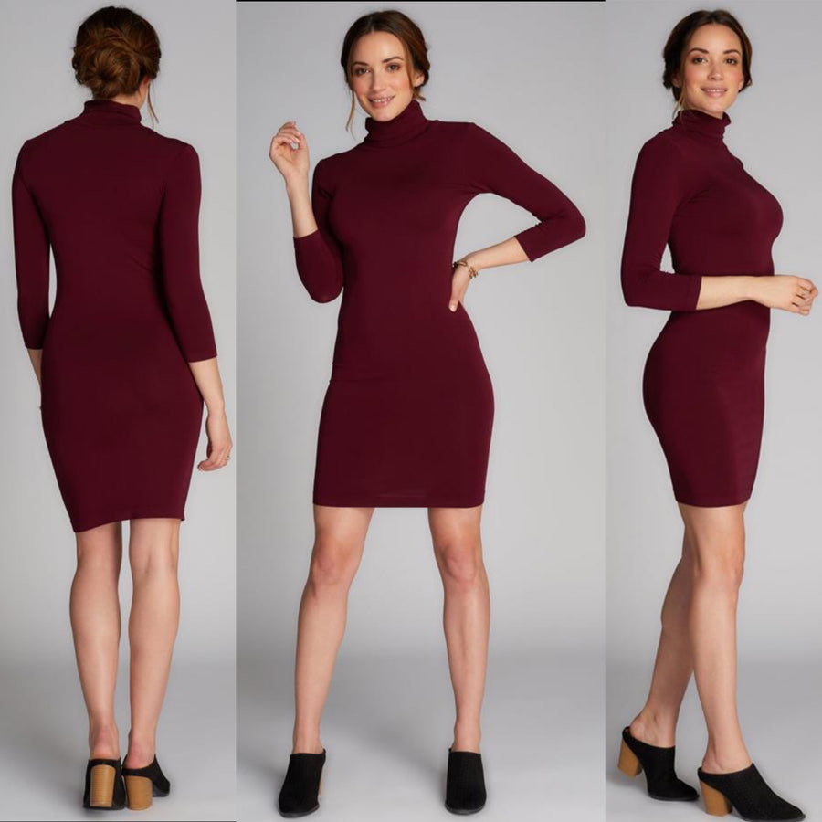 CEST MOI BAMBOO TURTLE NECK DRESS
