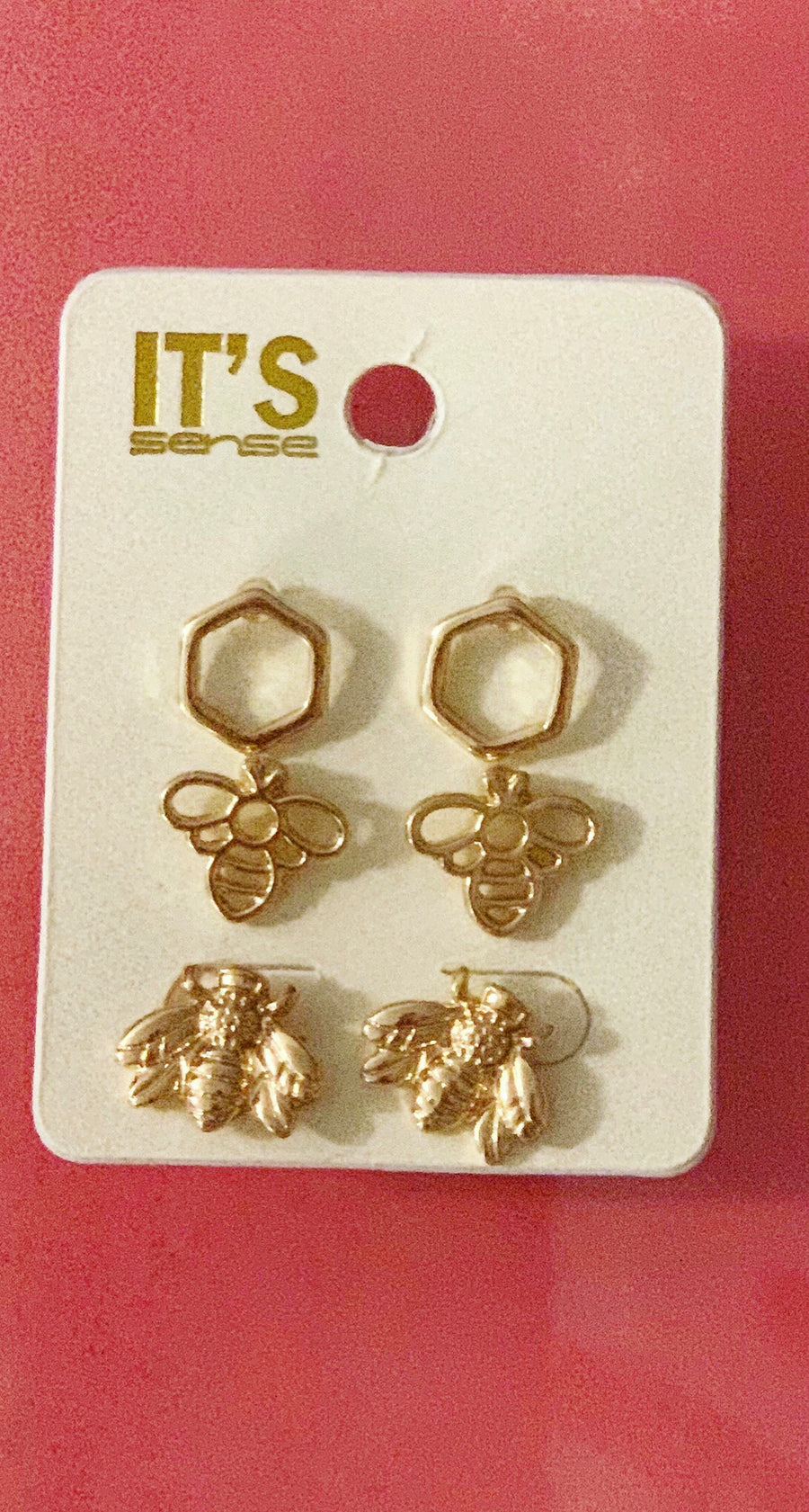 Triple Pack Bee Earrings
