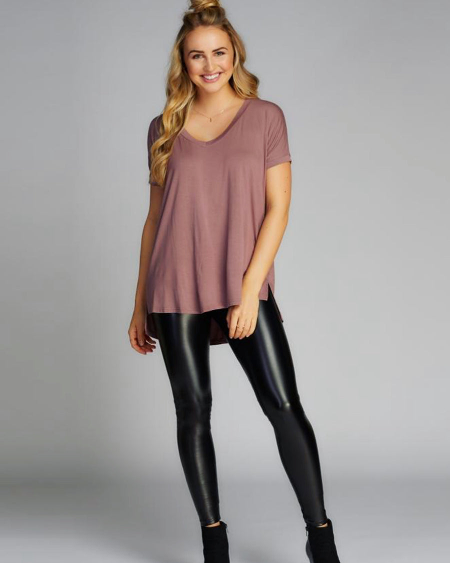 CEST MOI LIQUID PLEATHER LEGGINGS