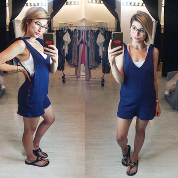 FRANCES NAVY ROMPER
