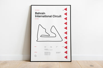 F1 Race Track Poster 2019 - Bahrain International Circuit