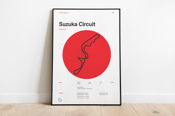 F1 Race Track Poster 2019 - Suzuka International Racing Course