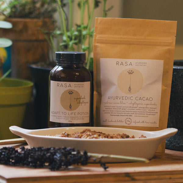 Photo of RASA products and Oatmeal