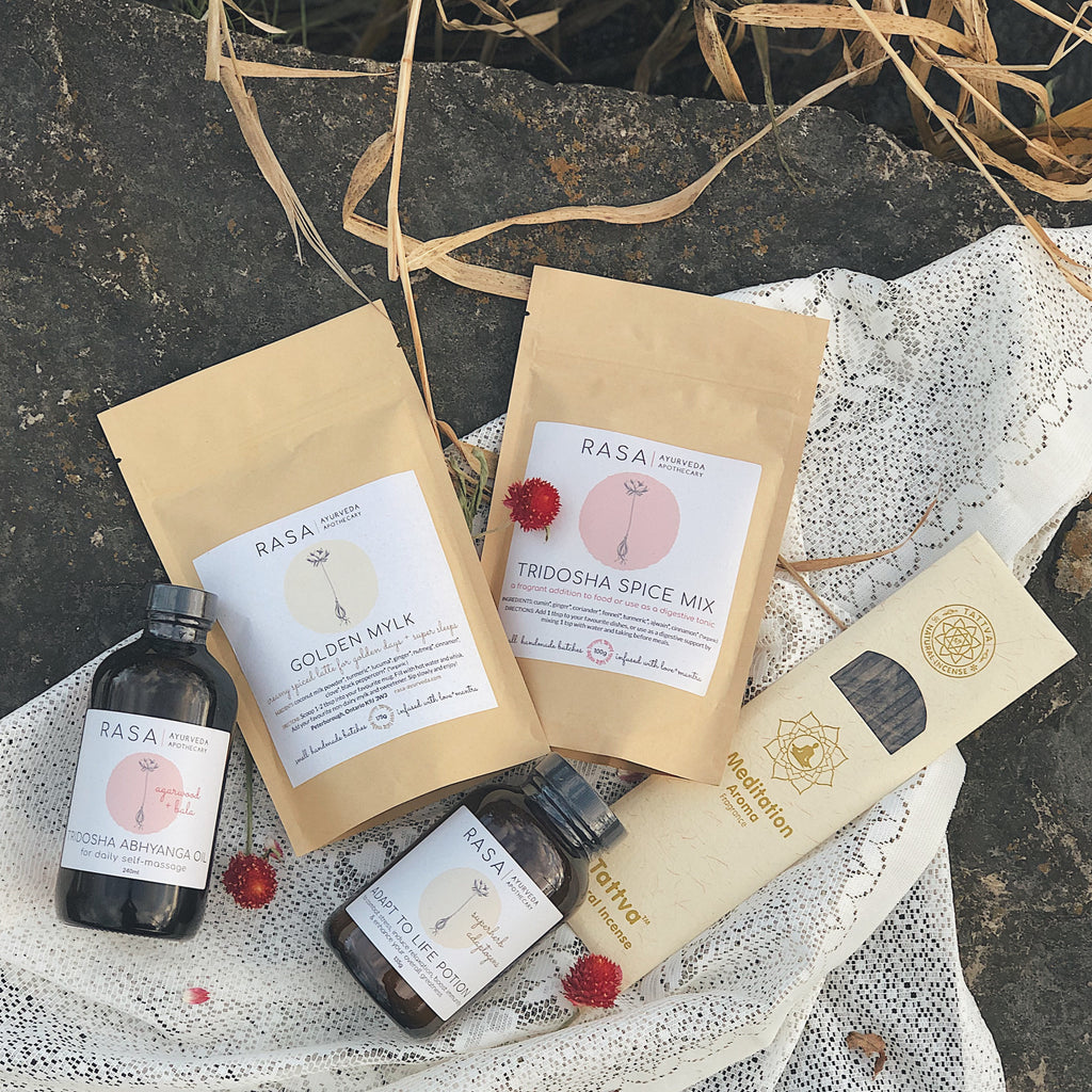 Ayurvedic Holiday Gift Box: Full Kit - Rasa Ayurveda Apothecary