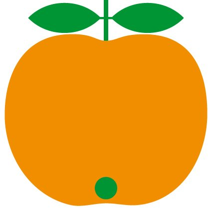 Kakeldekor Äpple Orange