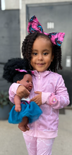 Load image into Gallery viewer, Positively Puffy Bee - African American Black Latino Hispanic Biracial Multicultural Curly Natural Hair 12 inch Baby Doll