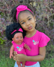 Load image into Gallery viewer, Matching Girl/Doll Romper & Headbands Set (doll sold separately)