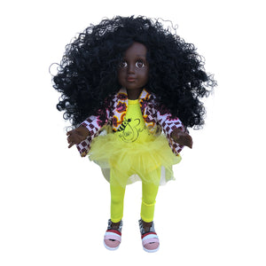 Curl Girlfriend Trudy -  African American Black Latino Hispanic Biracial Multicultural Curly Natural Hair 18 inch Fashion Doll