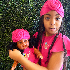 Matching Girl/Doll Romper & Turban Set (doll sold separately)