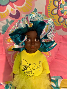 Bee-autiful Reversible Adjustable Satin Bonnet (Single or Set of 2)