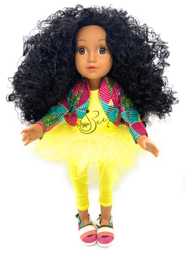 Curl Girlfriend Jacinta -  African American Black Latino Hispanic Biracial Multicultural Curly Natural Hair 18 inch Fashion Doll