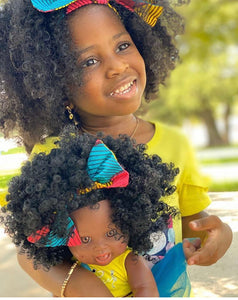 Cocoa Belle Bee - African American Black Latino Hispanic Biracial Multicultural Curly Natural Hair 12 inch Baby Doll