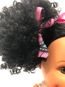 Sweet Puffy Bee African American Black Latino Hispanic Biracial Multicultural Curly Natural Hair 12 inch Baby Doll