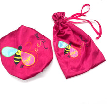 Load image into Gallery viewer, Bee-autiful Reversible Adjustable Satin Bonnet (Single or Set of 2)