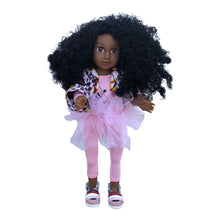 Load image into Gallery viewer, Curl Girlfriend Anika - African American Black Latino Hispanic Biracial Multicultural Curly Natural Hair 18 inch Fashion Doll