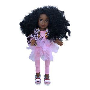 Curl Girlfriend Anika - African American Black Latino Hispanic Biracial Multicultural Curly Natural Hair 18 inch Fashion Doll