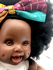 Fro Love Bee - African American Black Latino Hispanic Biracial Multicultural Curly Natural Hair 12 inch Baby Doll