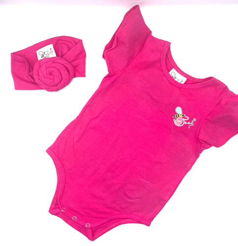 Girls Romper & Headband Set
