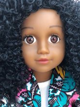 Load image into Gallery viewer, Curl Girlfriend Laila -  African American Black Latino Hispanic Biracial Multicultural Curly Natural Hair 18 inch Fashion Doll
