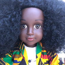 Load image into Gallery viewer, Curl Girlfriend Fatima - African American Black Latino Hispanic Biracial Multicultural Curly Natural Hair 18 inch Fashion Doll