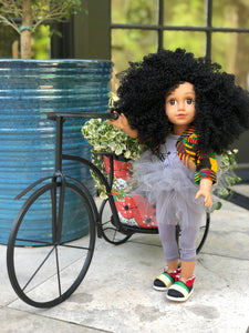 Curl Girlfriend Chante -  African American Black Latino Hispanic Biracial Multicultural Curly Natural Hair 18 inch Fashion Doll