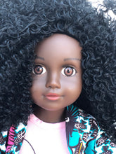 Load image into Gallery viewer, Curl Girlfriend Keisha -  African American Black Latino Hispanic Biracial Multicultural Curly Natural Hair 18 inch Fashion Doll