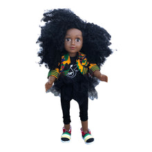 Load image into Gallery viewer, Curl Girlfriend Nandi -  African American Black Latino Hispanic Biracial Multicultural Curly Natural Hair 18 inch Fashion Doll