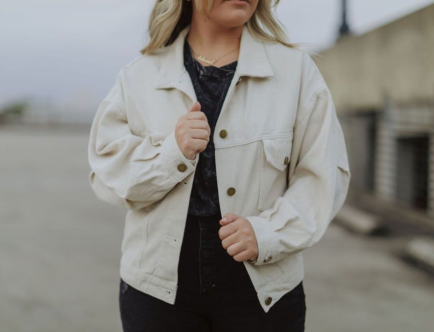"""Denver"" Jacket In Cream"