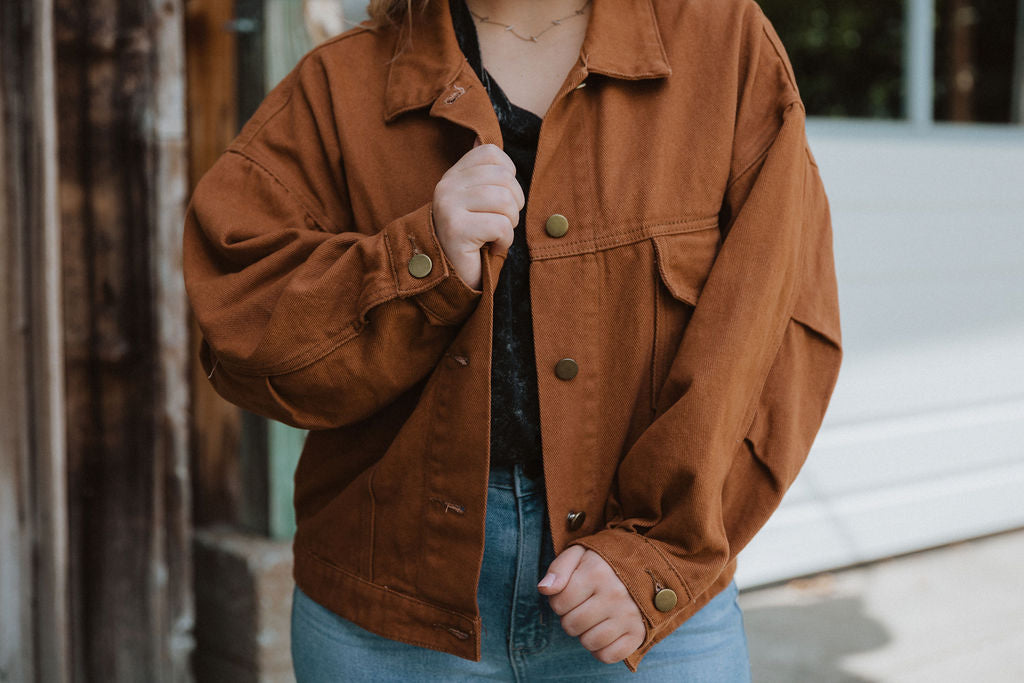 """Denver"" Jacket In Rust"