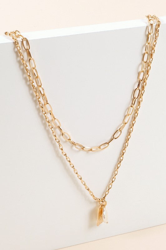 """Normandy"" Pearl Layer Necklace"