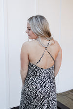 """Franklin"" Leopard Print Midi Dress"