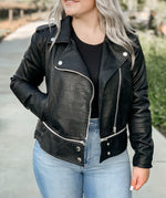 """Chicago"" Faux Leather Moto Jacket"