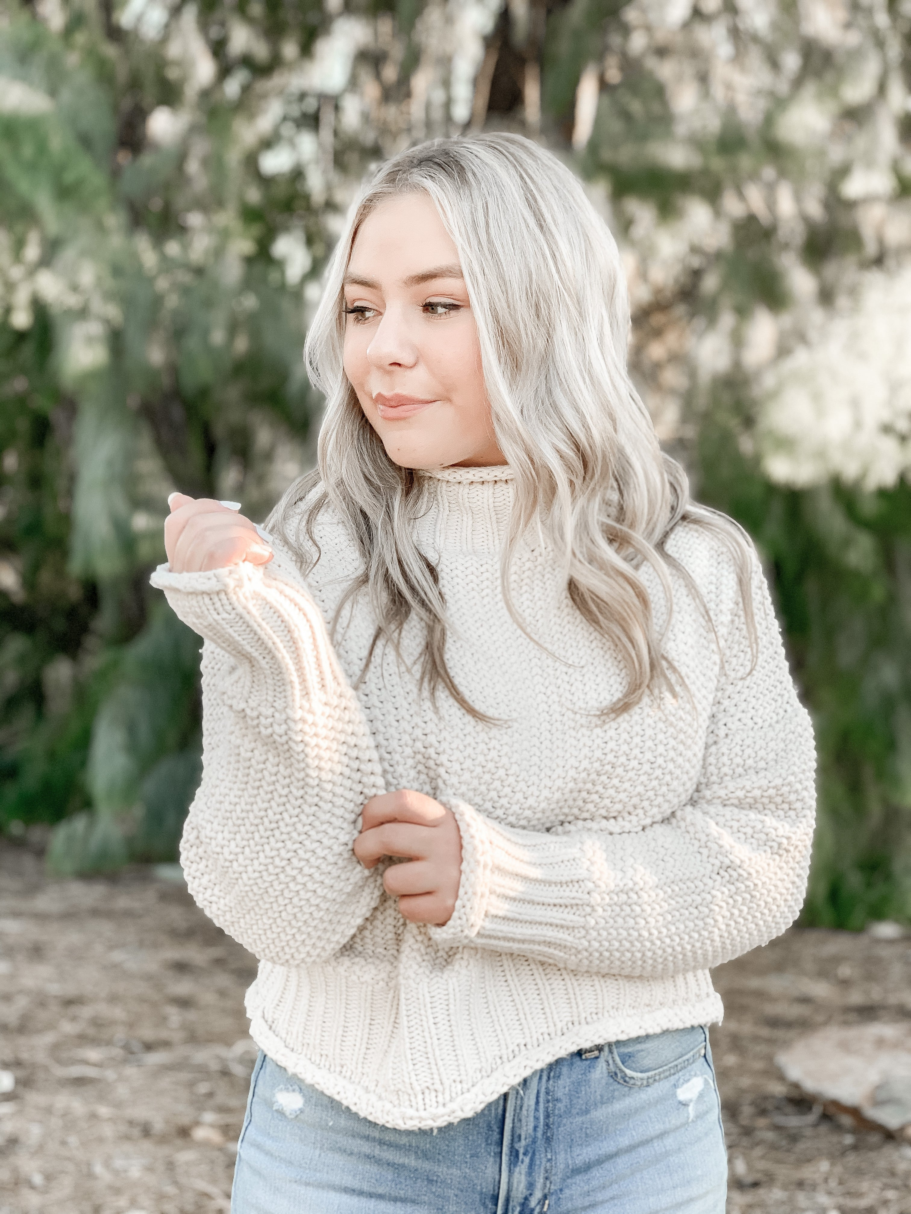 """Portland"" Sweater in Ivory"
