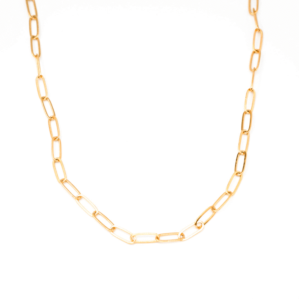 """Lily"" Large Link Necklace"