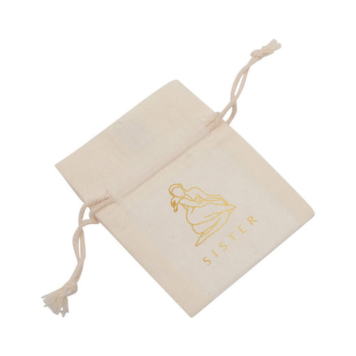 Fairtrade pouch made from organic cotton.