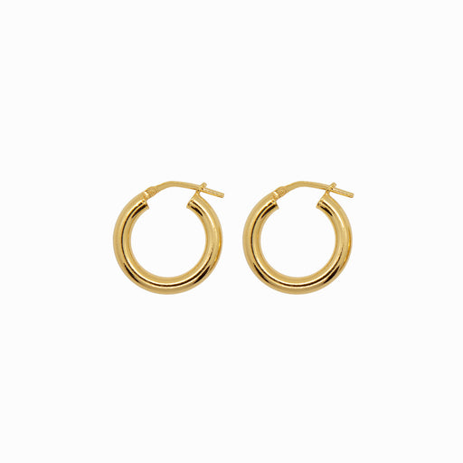 Chunky Hoop Earrings - Small - Gold-Plated Silver