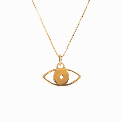 Evil Eye Gold Pendant