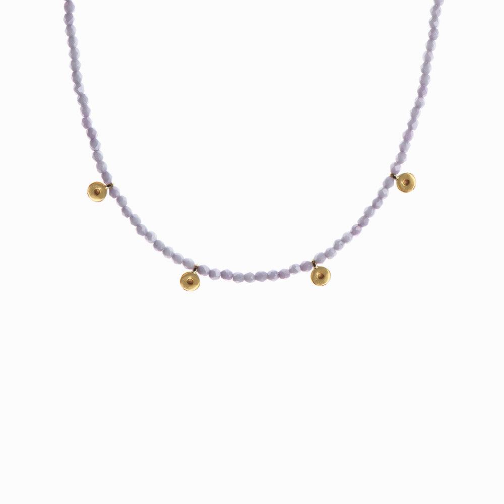 Gold Drops Glass Beaded Necklace - Sister the brand