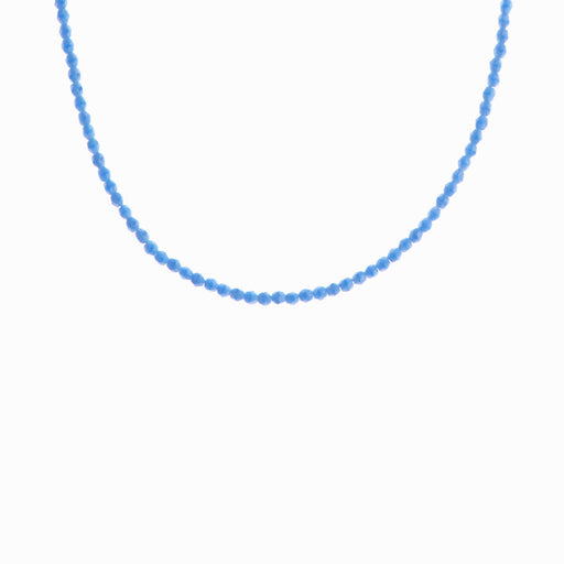 Blue Lagoon Glass Beaded Necklace - Sister the brand